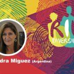 """Sandra Miguez en el conversatorio """"Género y diversidad en el contexto de la pandemia"""""""